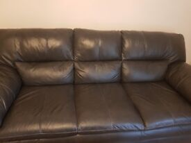 Two 3 seater Leather Sofa's Selling