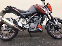 2012 KTM 200 DUKE SPOTLESS BIKE WITH EXTRAS MUST BE SEEN LONG MOT £2399