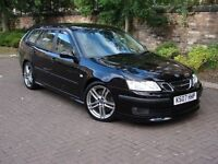 RARE MODEL!!! 2007 SAAB 9-3 2.8 T V6 AERO SPORTWAGON 5dr, FULL LEATHER, 1 YEAR MOT, WARRANTY