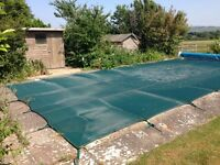Winter debris cover for swimming pool
