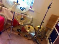 Meinl Cymbals + Pearl Stands (Mix and Match)