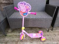 Peppa pig my first tri-scooter Pink