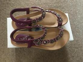 Size 4 Brand New Lunar Sandals