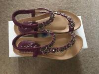 Size 4 Brand New Lunar Sandals