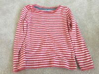 Red and white striped Boden top Aged 3-4 Years