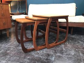 Burlington Nest of Tables by Nathan Furniture. Retro Vintage Mid Century