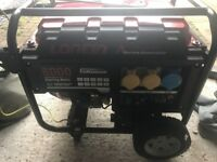 Lancin 8000 A series Electric Start Generator only used once.