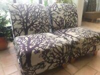 Lounge chairs - cream and purple