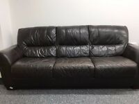 Stylish leather green/grey/brown Couch or Sofa - Great condition - £80 ono !!
