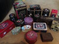 Job lot of old and new tins