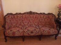Beautiful, Ornate three-piece suite