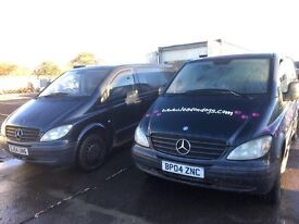 Mercedes vito 109cdi 2005 year spare parts Available