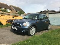 2009 Mini One Hatchback 1.4. Only 25,000 miles. A/C. Full service history.