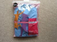 2 Pack Girls' M&S Blue Ultimate Non-Iron Long Sleeve Blouses - Age 12/152cm