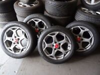 """16"""" & 17"""" TRANSIT CONNECT ALLOYS & TYRES BOTH SETS MINT COND JUST BEEN REFURBD GOOD TYRES £250"""