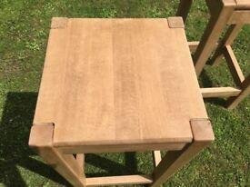 Beech tall kitchen stools
