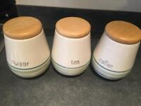 Sugar, Tea & Coffee Storage Jars