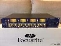 'Focusrite ISA428' 4 channel microphone preamp. In near mint condition, inc. box.