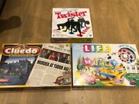 Set of board games - twister, cluedo, game of life