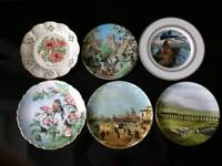 Various collectable plates china porcelain Worcester Crown Stafford Spode Coalport Davenport