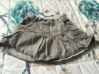 Baby Girls Cute Denim Grey Skirt 12-18 Months