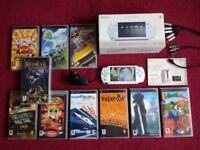 SUPER SONY SLIM/LITE PSP BUNDLE HUNDREDS OF RETRO GAMES SNES