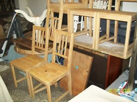 6 ikea wooden dining chairs 5 pound each