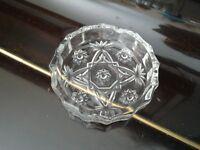 *CHARITY SALE* ASH TRAYS (full box)-- beautiful glass cut, vintage