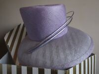 Stunning Lilac Wedding hat