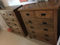 Rustic Oak 4 + 2 Chest of Drawers - Authentic Hamseys High Quality