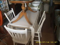 drop leaf table 4 chairs country kitchen
