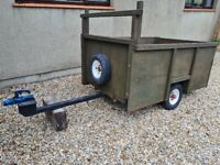 Wooden trailer on steel chassis