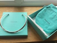 Sterling Silver Tiffany and Co Torque Necklace