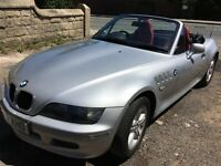 BMW Z3, silver, red leather interior, low milage - excellent condition
