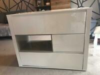 White gloss sideboard from next