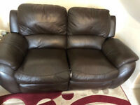 sofa 3 and 2 seater black recliner