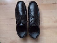 Men's Black Clarks Shoes - new and unworn. Size 11 , slim fit.