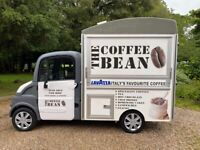 Towability Coffee Food Catering Van Stand Inside Aixam Mega Electric 464 MILES