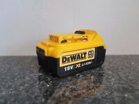 NO OFFERS..DeWALT 18V XR Li-ion 4ah battery(USED),Makita bosch hitachi hilti
