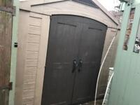 Keter plastic shed 8x6