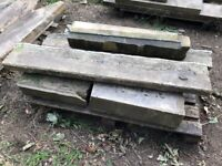 Assorted stone blocks, York stone and Acaster limestone, including a step