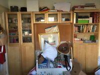 Free ikea maple bookcases