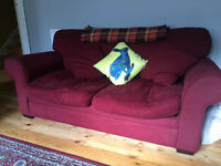 Red good quality sofa bed worth over £500 five years ago