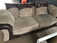 2 seater and 3 seater sofas for sale very good condition only 1 year old buyers must collect