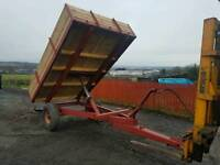 Tractor tipping trailer fully revamped new wood suit farm stables logs etc
