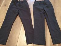 2x Girls grey school trousers age 6yrs