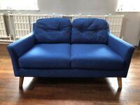 Cobalt blue 2-seater sofa