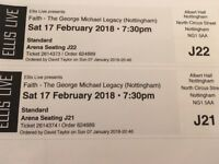 2 tickets for George Michael Legacy at Albert Hall Nottingham Sat 17th Februaryfor sale