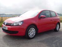 2009 VOLKSWAGEN GOLF MK6 1.4 S RED ONE OWNER FULL VW HISTORY 40,000 MILES GREAT CAR £6250 OLDMELDRUM
