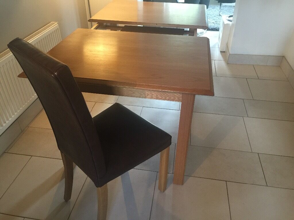 Marks And Spencer Dining Room Furniture Marks And Spencer Lichfield Oak Extending Dining Table And 6